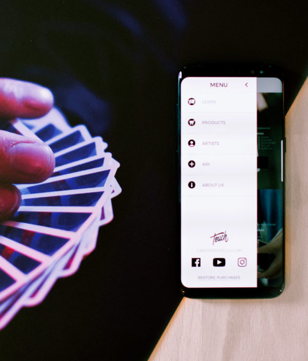 Cardistry Art print - riffle fan and touch app menu