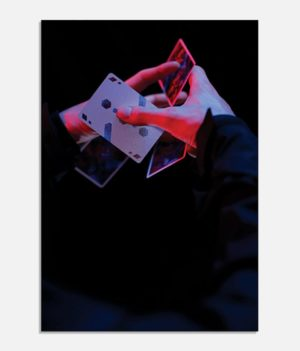 Cardistry Art print - moulin rouge 3