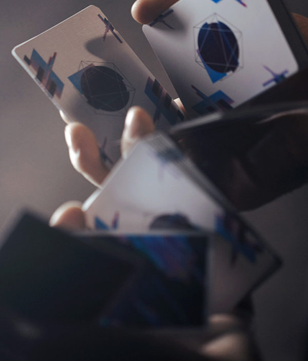 Pulse blue Cardistry Cards - L-cuts