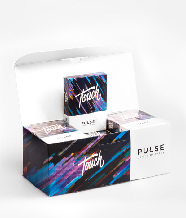 Cardistry Cards Packshot - Pulse Blue - Brick Box
