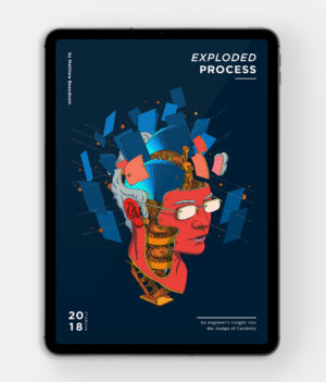Cardistry Digital Book cover - Exploded Process