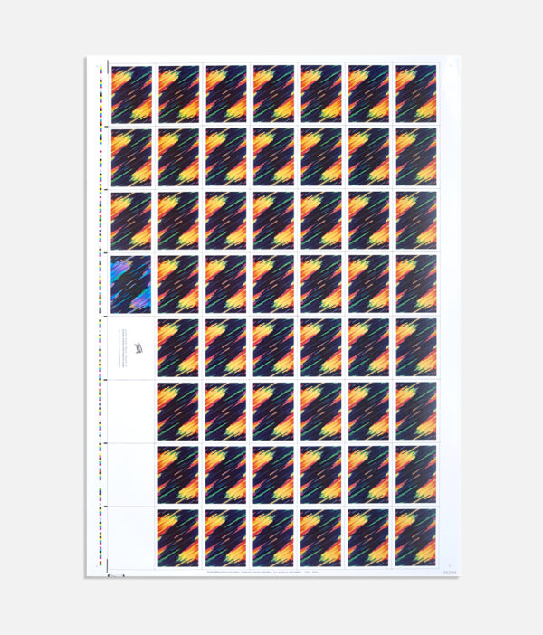 Pulse cardistry cards Uncut Sheet - back
