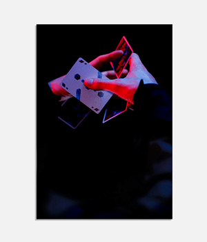 Cardistry Art print - Moulin rouge - thumbnail