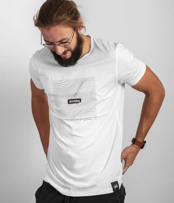 Cardistry Apparel - Dérive White T-Shirt - smiling