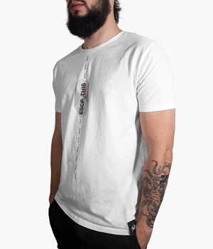 Cardistry Apparel - ESCP_THIS White T-Shirt - Thumbnail 2